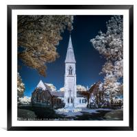 Infrared Chapel, Framed Mounted Print