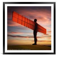Angel of the North Artwork     , Framed Mounted Print