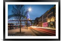 Zooming up the Quayside, Framed Mounted Print
