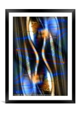 Electricity, Framed Mounted Print