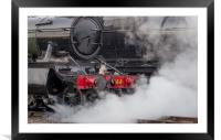 Close up of steam emitting from a locomotive, Framed Mounted Print