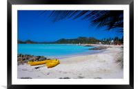 Antigua , Caribbean , Framed Mounted Print