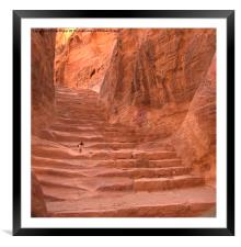 Lost in Petra, Framed Mounted Print