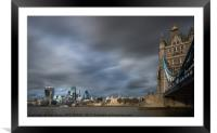 A city view across The Thames, Framed Mounted Print