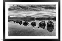 Rocks at Loch Lomond, Framed Mounted Print
