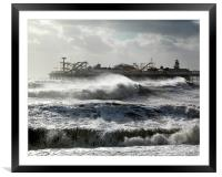 Brighton Storm, Framed Mounted Print