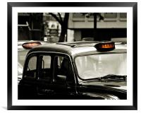 London Taxi, Framed Mounted Print