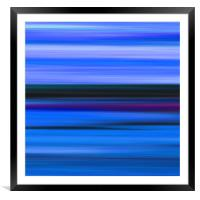 Seascape Abstract, Framed Mounted Print