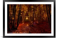 Electric Forest, Framed Mounted Print