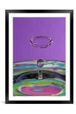Water Collision, Framed Mounted Print