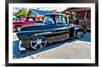 Classic Chevrolet Apache 10958 pick up, Framed Mounted Print