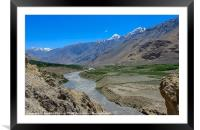 Pamir Mountains in the Wakhan Valley #5, Framed Mounted Print