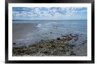West Worthing Beach, Framed Mounted Print
