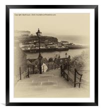 99 Steps at Whitby, Framed Mounted Print