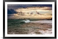 Wave Coming In, Framed Mounted Print