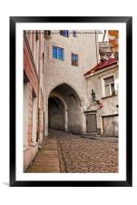 Gate Through The Tower, Framed Mounted Print