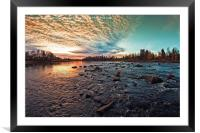 Dramatic Sunset By The River, Framed Mounted Print