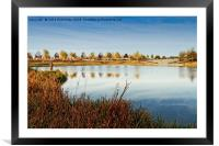 Fisherman By The Lake, Framed Mounted Print