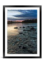 Dramatic Sky Over The Rapids, Framed Mounted Print