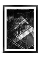 Reflections in the Ship Railing, Framed Mounted Print