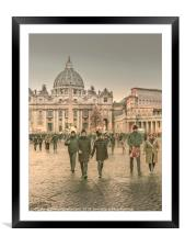 Conciliazione Street, Rome, Italy, Framed Mounted Print