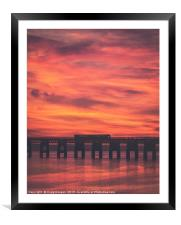 Tay Rail Bridge Dundee , Framed Mounted Print