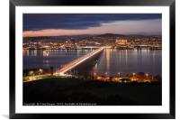 Dundee City Scotland, Framed Mounted Print