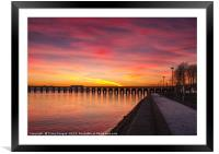 Dundee Tay Bridge Sunset, Framed Mounted Print