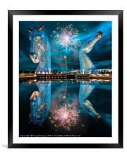 Kelpies Sculpture Falkirk Scotland, Framed Mounted Print