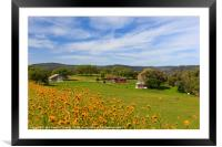 Country side, Framed Mounted Print