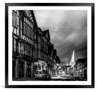 Knifesmithgate, Chesterfield, Framed Mounted Print