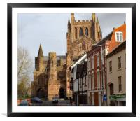 hereford cathedral, Framed Mounted Print