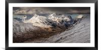 Glencoe, The Three Sisters in Winter, Framed Mounted Print