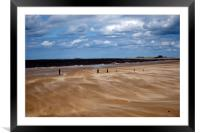 Titchwell beach in Norfolk, Framed Mounted Print