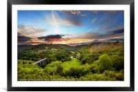 Monsal Head skyline, Framed Mounted Print