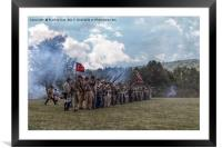 Confederate Soldiers , Framed Mounted Print
