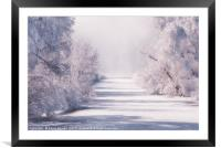 Icy Cold River, Framed Mounted Print