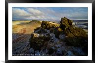 Crook Hill in Winter, Framed Mounted Print