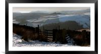 Crook Hill from Derwent Edge, Framed Mounted Print