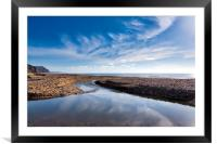 River Char at Charmouth, Framed Mounted Print