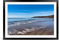 Lacy Patterns in the Sand at Charmouth, Framed Mounted Print