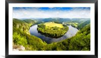 View of Vltava river from Solenice viewpoint, Czec, Framed Mounted Print