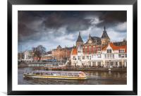 Amsterdam, Framed Mounted Print