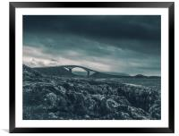 the atlantic road, Framed Mounted Print