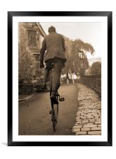 Penny Farthing (sepia), Framed Mounted Print