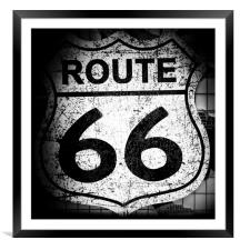 Route 66., Framed Mounted Print