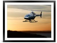 Flying in the Purbecks, Framed Mounted Print