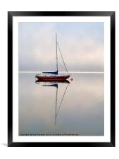Moored On The Lake, Framed Mounted Print
