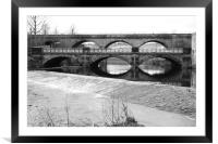 water under the bridge, Framed Mounted Print