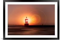 WALK INTO THE SUN, Framed Mounted Print